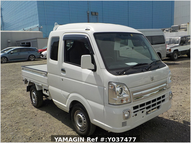 It is a picture of the white suzuki carry  jumbo in 2019,Sub Photo 0 Stock No.Y037477
