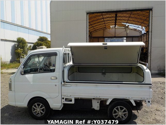 It is a picture of the white suzuki carry  truck in 2016,Sub Photo 5 Stock No.Y037479