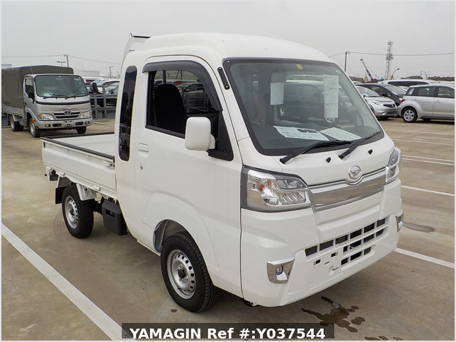 It is a picture of the white daihatsu hijet jumbo in 2020,Sub Photo 0 Stock No.Y037544