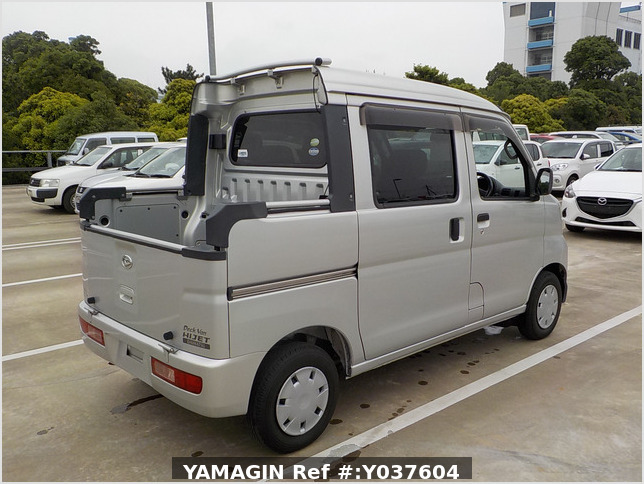 It is a picture of the silver daihatsu hijet  deck van in 2007,Sub Photo 2 Stock No.Y037604
