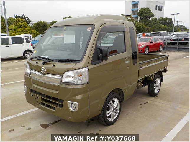 It is a picture of the khaki daihatsu hijet jumbo in 2017,Sub Photo 1 Stock No.Y037668