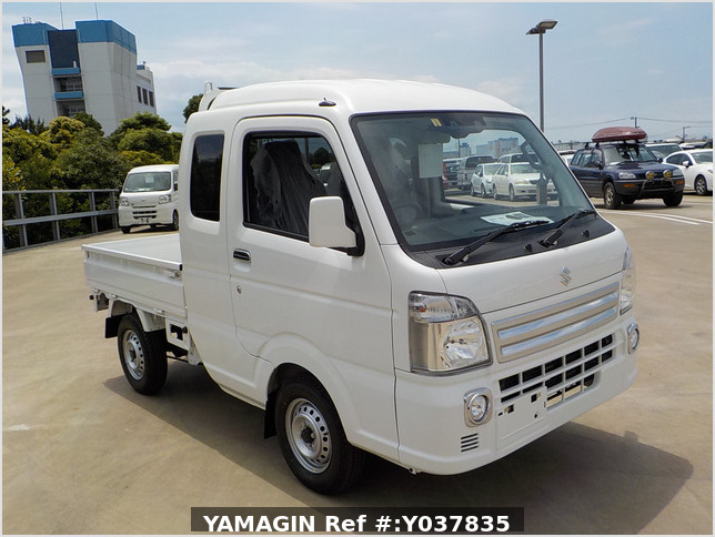 It is a picture of the white suzuki carry jumbo in 2021,Sub Photo 0 Stock No.Y037835