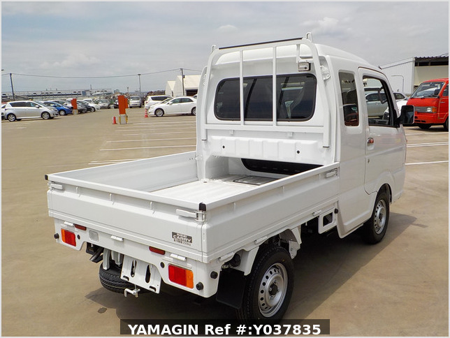It is a picture of the white suzuki carry jumbo in 2021,Sub Photo 8 Stock No.Y037835