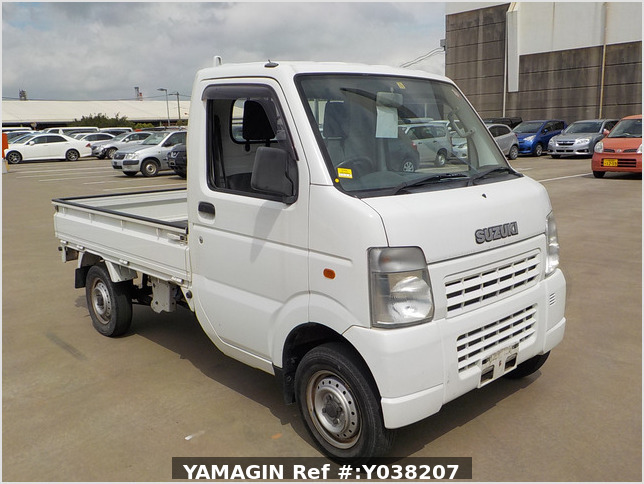 It is a picture of the white suzuki carry truck in 2005,Sub Photo 0 Stock No.Y038207