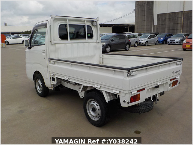 It is a picture of the white daihatsu hijet truck in 2015,Sub Photo 3 Stock No.Y038242