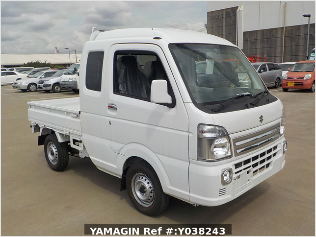 It is a picture of the white suzuki carry  jumbo in 2019,Sub Photo 0 Stock No.Y038243