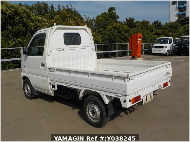 It is a picture of the white suzuki carry truck in 2001,Sub Photo 3 Stock No.Y038245