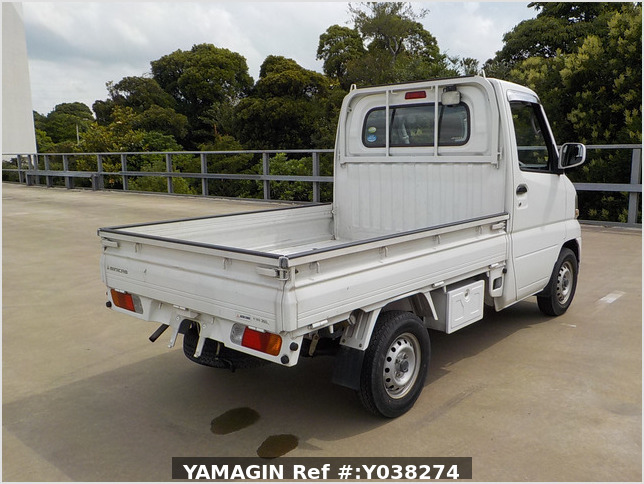 It is a picture of the white mitsubishi minicab truck in 2005,Sub Photo 2 Stock No.Y038274