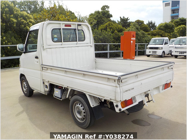 It is a picture of the white mitsubishi minicab truck in 2005,Sub Photo 3 Stock No.Y038274