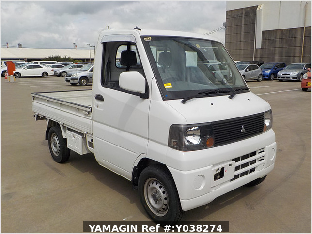 It is a picture of the white mitsubishi minicab truck in 2005,Sub Photo 0 Stock No.Y038274