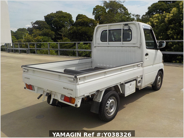It is a picture of the white mitsubishi minicab truck in 2004,Sub Photo 2 Stock No.Y038326