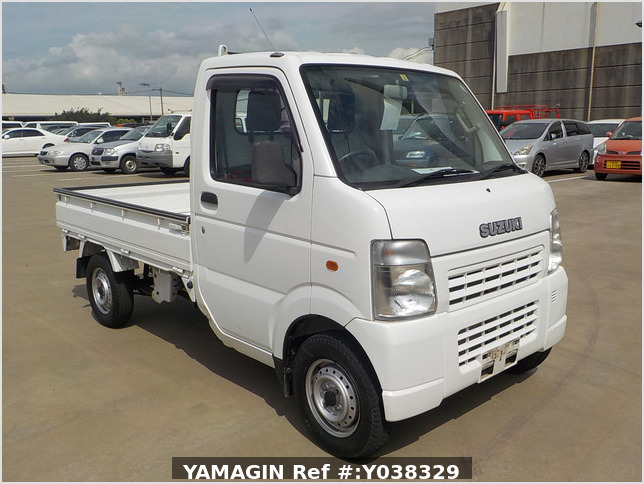 It is a picture of the white suzuki carry  truck in 2002,Sub Photo 0 Stock No.Y038329