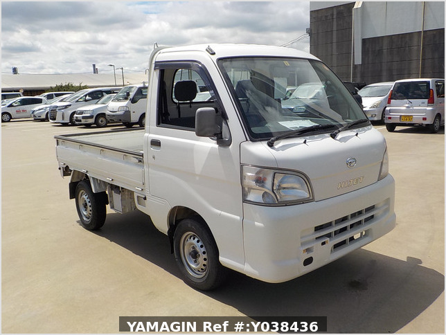It is a picture of the white daihatsu hijet  truck in 2005,Sub Photo 0 Stock No.Y038436