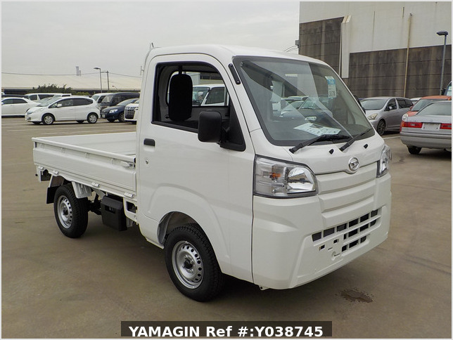 It is a picture of the white daihatsu hijet truck in 2021,Sub Photo 0 Stock No.Y038745