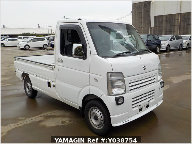 It is a picture of the white suzuki carry truck in 2013,Sub Photo 0 Stock No.Y038754