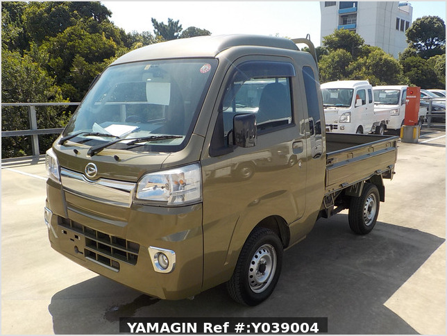 It is a picture of the green daihatsu hijet jumbo in 2017,Sub Photo 1 Stock No.Y039004