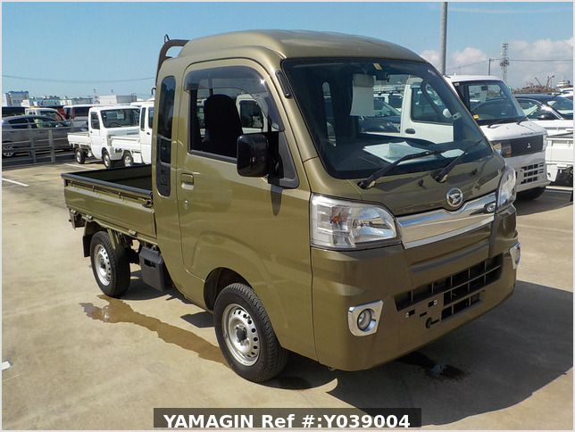 It is a picture of the green daihatsu hijet jumbo in 2017,Sub Photo 0 Stock No.Y039004