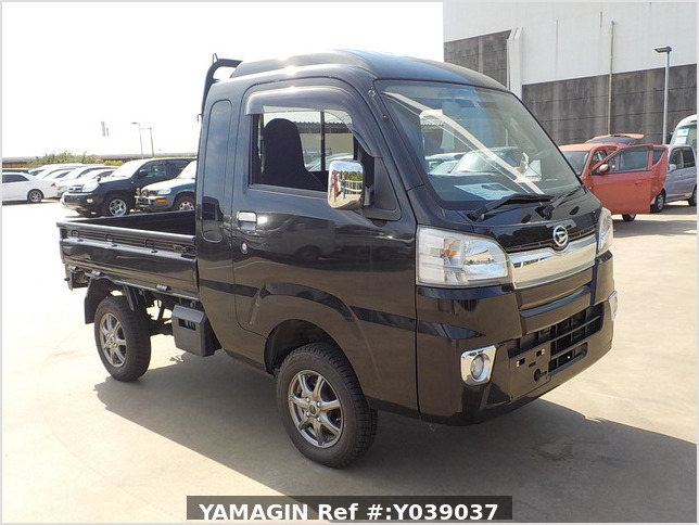 It is a picture of the black daihatsu hijet jumbo in 2016,Sub Photo 0 Stock No.Y039037