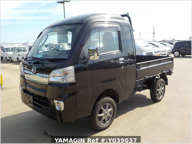 It is a picture of the black daihatsu hijet jumbo in 2016,Sub Photo 1 Stock No.Y039037