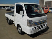 It is a picture of the white suzuki carry truck in 2016,First Photo Stock No.Y040425
